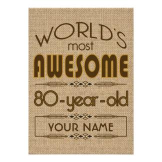 80 o Mundo de la celebración del cumpleaños mejor Comunicados Personales