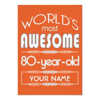 80.o Naranja fabuloso de la llama de los mundos Anuncio Personalizado