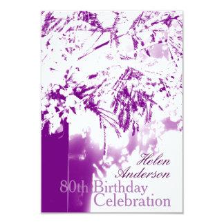 80.o Personalizado del ramo de la flor de la Invitación 8,9 X 12,7 Cm