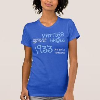 80.o Regalo de cumpleaños Brew del vintage de 1933 Camisetas
