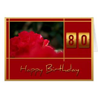 80.o Rododendro del cumpleaños + Tarjeta de