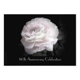 80.o Rosa de la invitación de la celebración del