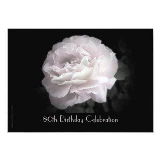 80.o Rosa de la invitación de la celebración del Invitación 12,7 X 17,8 Cm