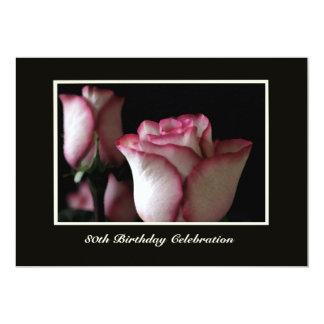 80.o Rosas magníficos de la invitación de la