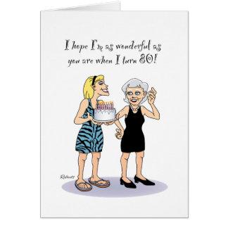 80.o Saludo del cumpleaños para la abuela Felicitación