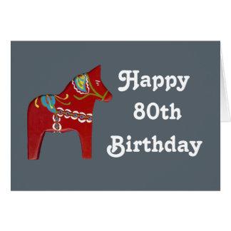 80.o Tarjeta de cumpleaños con el caballo de Dala