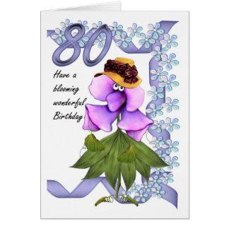 80.o Tarjeta de cumpleaños con los bombachos lindo