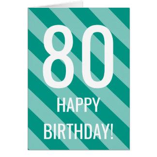 80.o Tarjeta de cumpleaños para los hombres o las