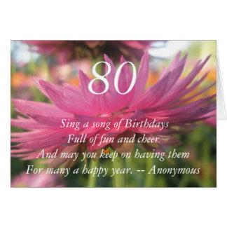 80.o Tarjeta de la margarita de papel rosado de la