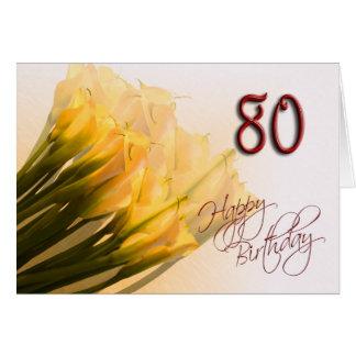 80.o Tarjeta del feliz cumpleaños
