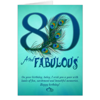 80.o Tarjetas de la plantilla del cumpleaños