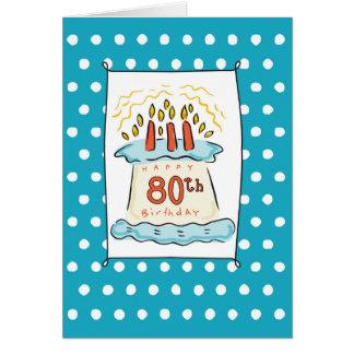 80.o Torta de cumpleaños Tarjeta De Felicitación