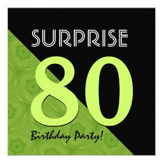 80.o Verde lima del cumpleaños de la sorpresa y V0 Comunicados Personales