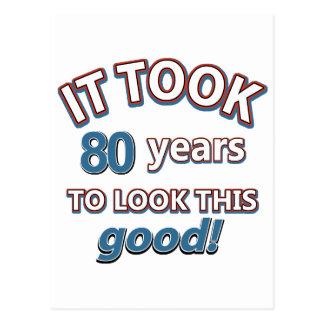 80.os diseños del cumpleaños del año postal