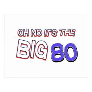 80.os diseños del cumpleaños postal