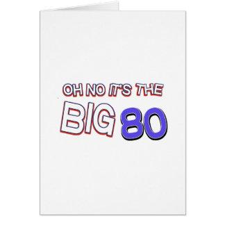 80 os diseños del cumpleaños tarjetón