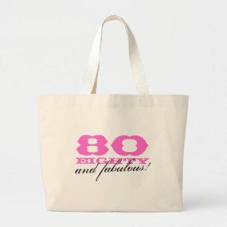 80 y la bolsa de asas fabulosa para el 80.o