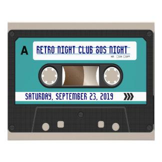 80s casete retro Mixtape personalizado Folleto 11,4 X 14,2 Cm