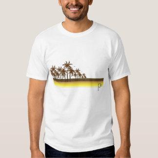 80s retro Brown/palmas de oro Camisetas