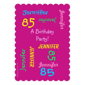 85 años de cumpleaños de invitación joven de la