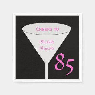 """85o Fiesta de cumpleaños """"alegrías a"""" para el Servilleta Desechable"""