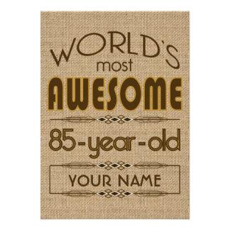 85o Mundo de la celebración del cumpleaños mejor f Anuncio
