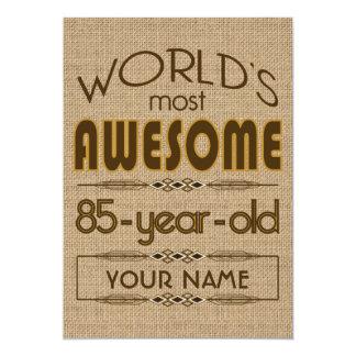 85o Mundo de la celebración del cumpleaños mejor Invitación 12,7 X 17,8 Cm