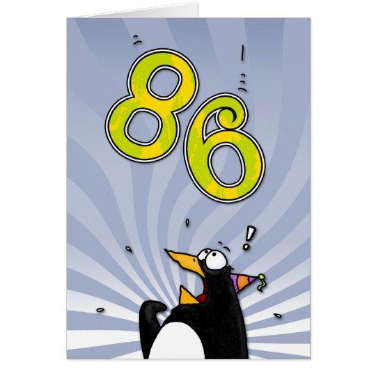 86.o cumpleaños - tarjeta de la sorpresa del