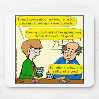879 poseer su propio dibujo animado del negocio alfombrilla de ratón