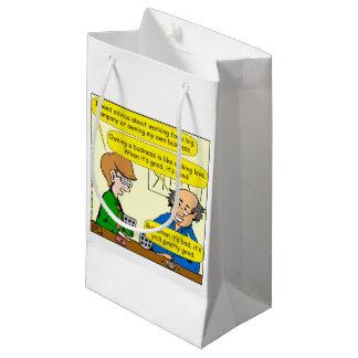 879 poseer su propio dibujo animado del negocio bolsa de regalo pequeña