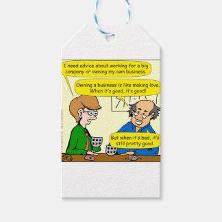 879 poseer su propio dibujo animado del negocio etiquetas para regalos