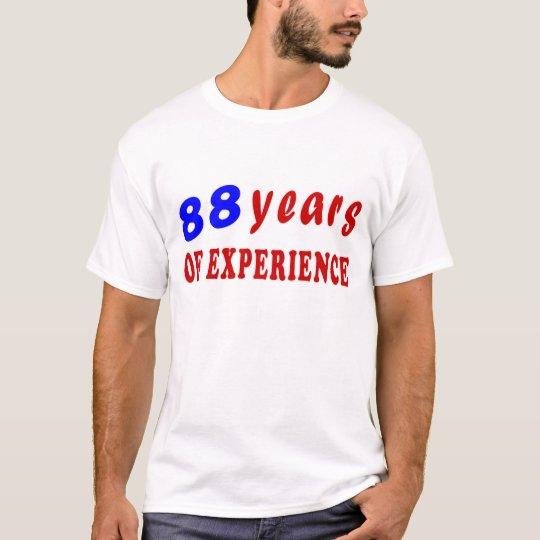 88 años de experiencia camiseta