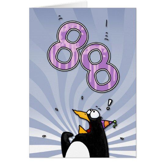 88.o cumpleaños - tarjeta de la sorpresa del