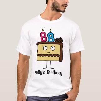 88.o Torta de cumpleaños con las velas Camiseta