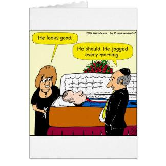898 él mira el buen dibujo animado fúnebre tarjeta de felicitación