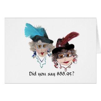 89.o cumpleaños chistoso para la mujer tarjeta de felicitación