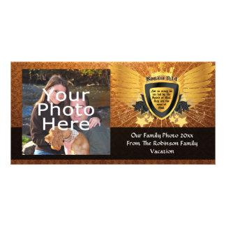 8:14 de los romanos del oro, hijos de dios tarjetas con fotos personalizadas