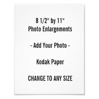 """8 1/2"""" por 11"""" ampliación de la foto"""