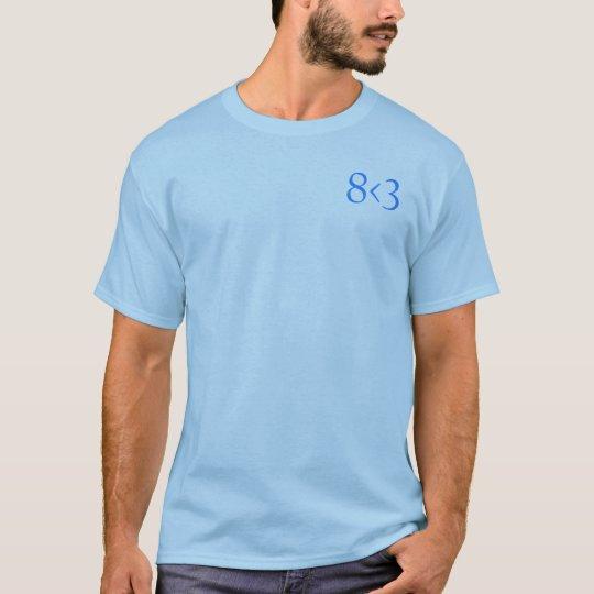 8 < 3 camisa sutil 1 - azul