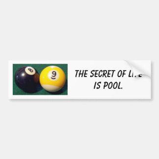 8-Ball 9-Ball Etiqueta De Parachoque