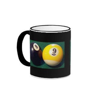 8-Ball 9-Ball Taza De Dos Colores
