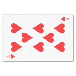 8 de corazones papel de seda