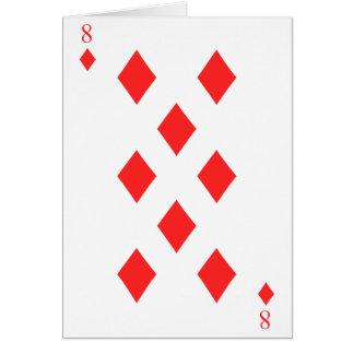 8 de diamantes tarjeta de felicitación