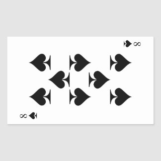 8 de espadas pegatina rectangular
