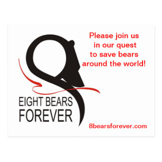 8 osos para siempre tarjeta postal