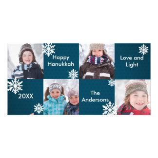 8H ajusta la nieve azul - tarjeta de la foto de