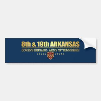 8va y diecinueveavo infantería de Arkansas (F10) Pegatina Para Coche