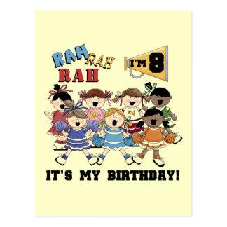 8vas camisetas y regalos del cumpleaños de la anim postales
