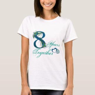 8vo aniversario de boda/8/8vos/número 8 camiseta