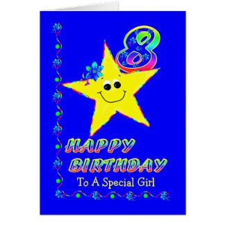 8vo El cumpleaños protagoniza al chica Tarjeta